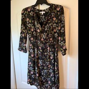 Black floral dress size S Petite
